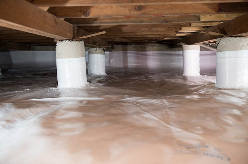 Crawl space encapsulation or concrete floor everdry for Concrete crawl space floor